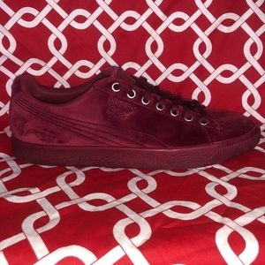 Puma Clyde Velour Ice-Tibetan Red-Size 8.5 men's